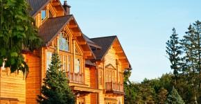 Dom z płazów drewnianych